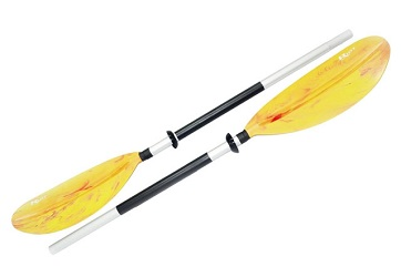 2-piece paddle for inflatable kayaks